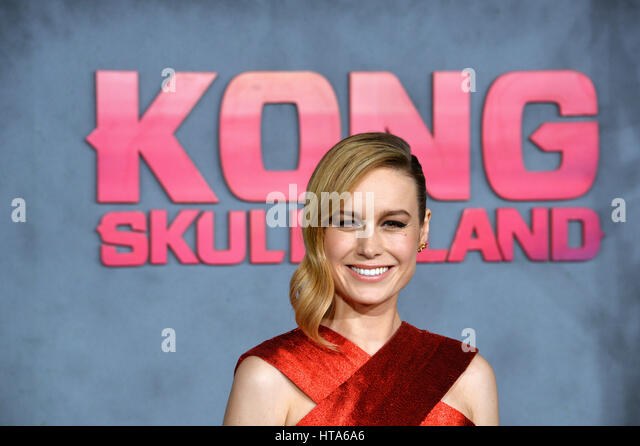 Los Angeles, USA. 08th Mar, 2017. LOS ANGELES, CA. March 8, 2017: Actress Brie Larson at the premiere for 'Kong: - Stock Image