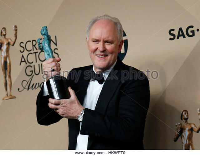 John Lithgow poses with the award he won for Outstanding Performance by a Male Actor in a Drama Series for his role - Stock-Bilder
