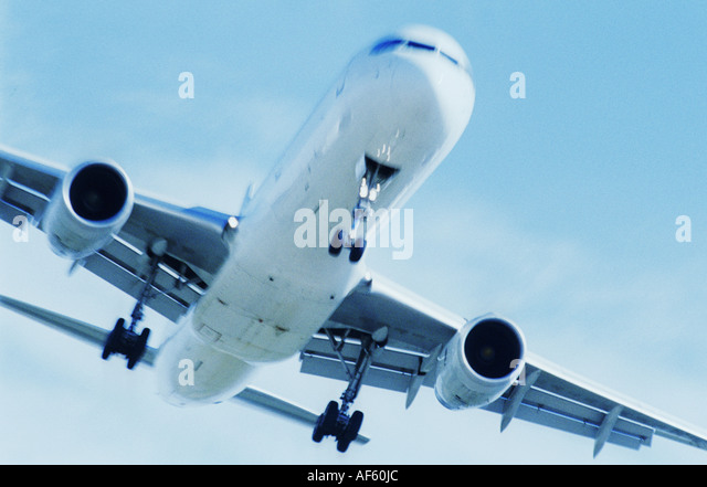 plane aeroplane airplane detail close fly - Stock Image