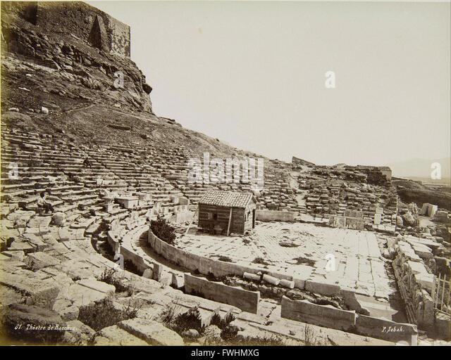 Sebah Pascal - The Ancient Theatre of Dionysus - Benaki Museum of Greek Civilization - Stock Image