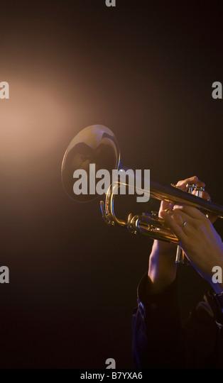 Trumpet player - Stock-Bilder