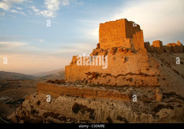 Karak castle, Karak, Jordan. - Stock Image