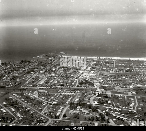 Wollongong looking east 26 November 1937 RAHS  [RAHSAdastra Aerial - Stock Image
