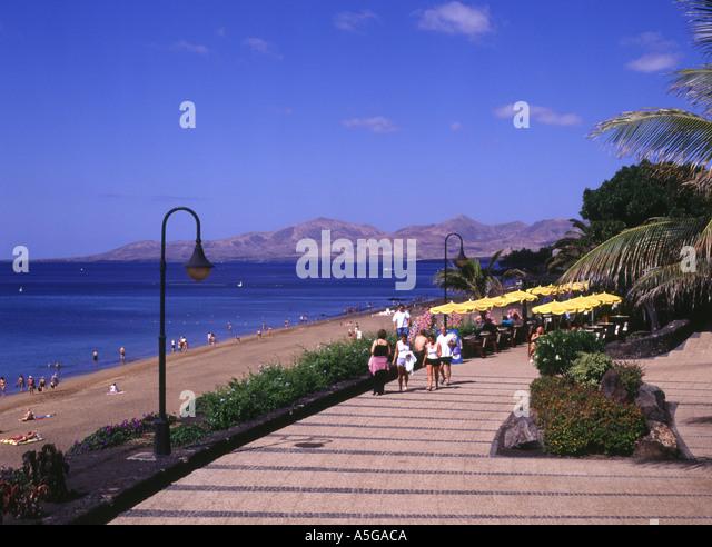 Puerto del carmen cafe stock photos puerto del carmen - Lanzarote walks from puerto del carmen ...
