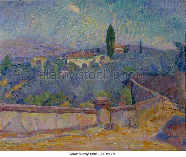 Landscape. The Crimea, 1916. Artist: Burliuk, David Davidovich (1882-1967) - Stock Image
