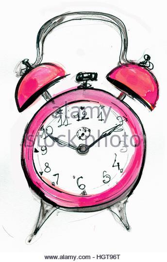 Alarm clock ringing - Stock-Bilder
