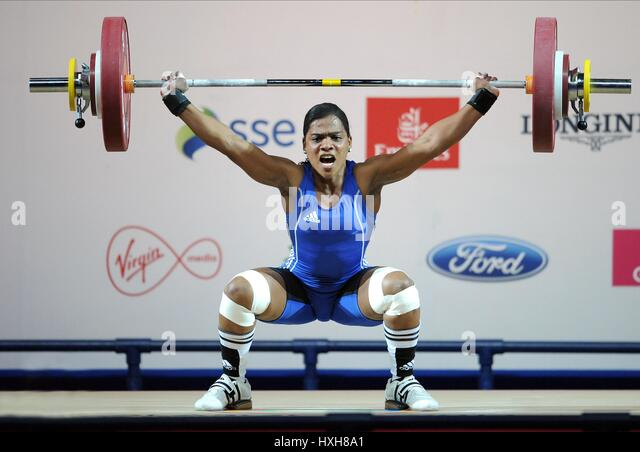 CLEMENTINA AGRICOLE WOMEN'S WEIGHTLIFTING WOMEN'S WEIGHTLIFTING CLYDE AUDITORIUM GLASGOW SCOTLAND 26 July - Stock Image