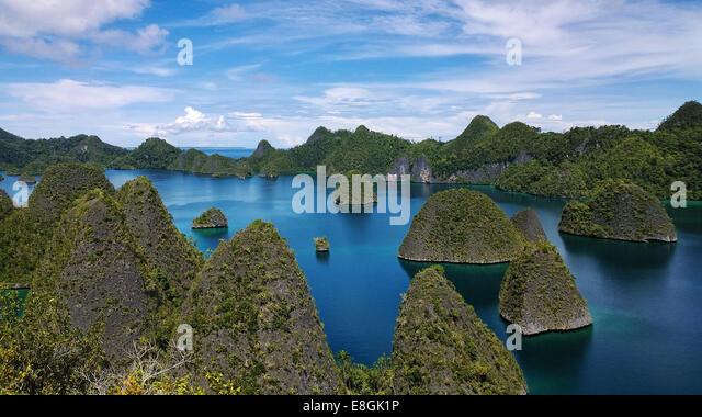 Indonesia, Papua New Guinea, West Papua, Raja Ampat, Wayag Island - Stock Image