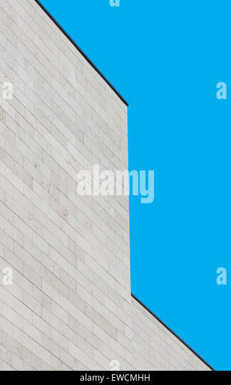 Vertically oriented picture of modern building as architecture abstract - Stock Image