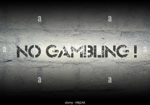 no gambling - Stock Image
