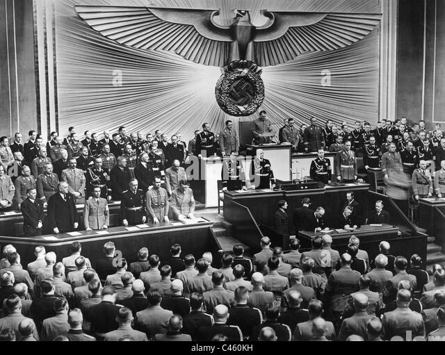 Reichstag session on 30.1.1939 - Stock Image