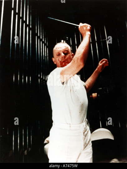 SILENCE OF THE LAMBS 1990 Rank/Orion film with Anthony Hopkins as Dr Hannibal Lecter - Stock Image