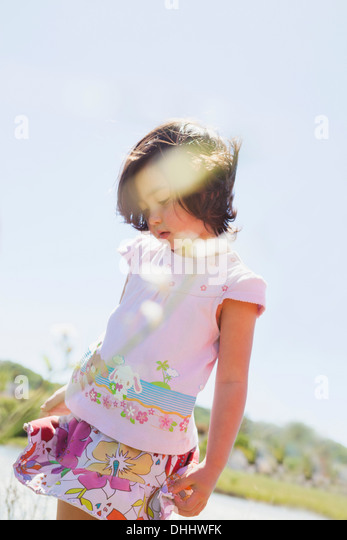 Girl standing pretty - Stock Image