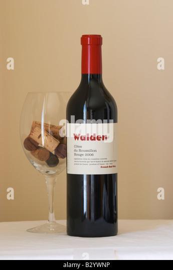 Walden Rouge, Herve Bizeul. Roussillon, France - Stock Image