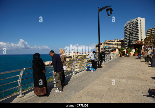 Lebanon, Beirut, the Corniche Beirut - Stock Image