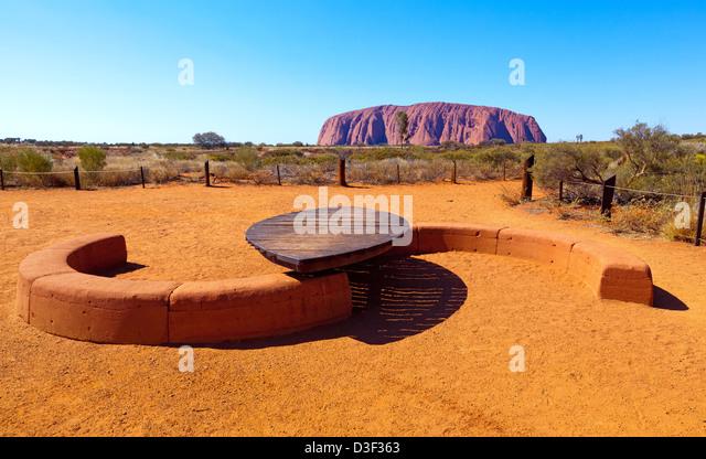 Ayers Rock Uluru Central Australia Northern Territory - Stock Image