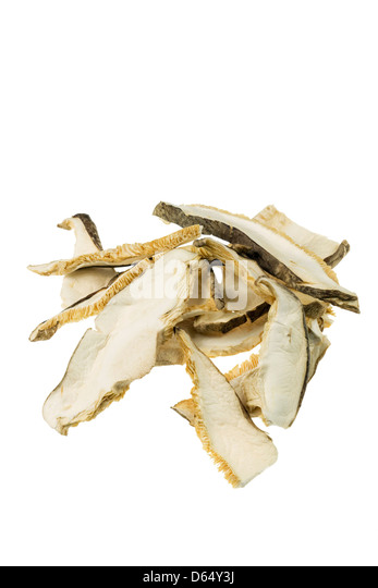 Dried shiitake mushrooms - Stock Image