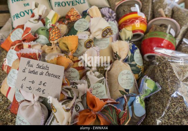Herbes de Provence, Market , Shopping, Provence, France - Stock Image