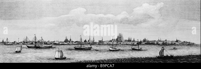 Astrakhan print 1714 Reproduction - Stock Image