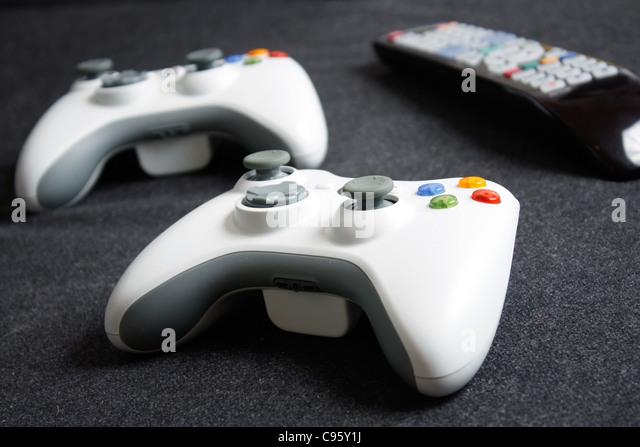 Computer game controllers - Stock-Bilder