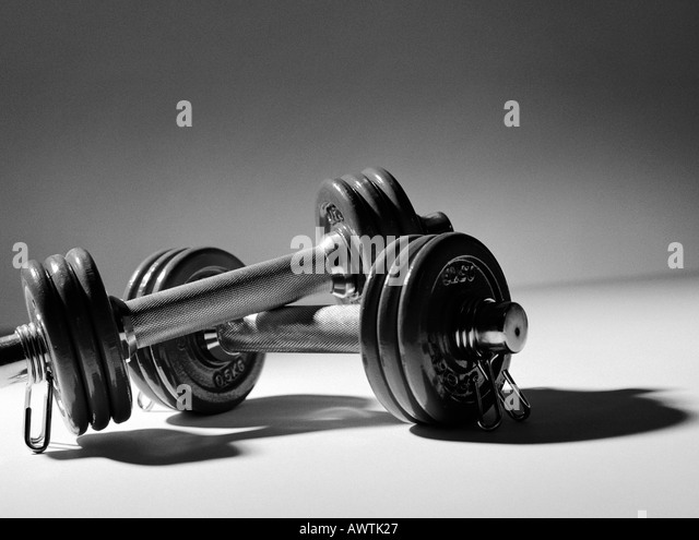 Dumbbells, close-up - Stock Image