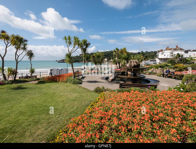 Channel islands holiday resort stock photos channel for Garden design jersey channel islands