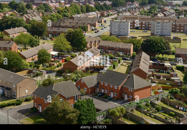 Social housing on the outskirts of Southampton UK - Stock-Bilder