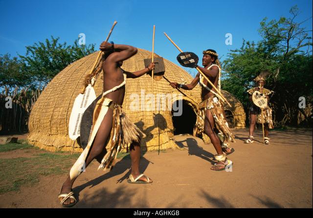 Zulu Shield Spear Stock Photos & Zulu Shield Spear Stock