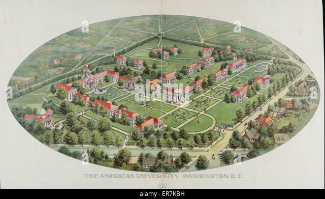 The American University, Washington, D.C. Date c1899. - Stock Image