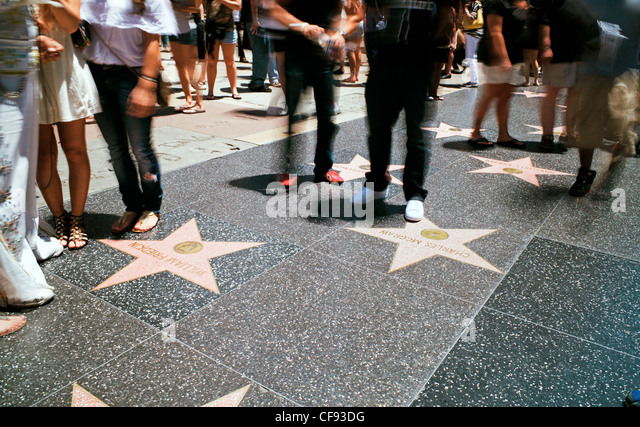 Walk of Fame, Hollywood Boulevard, Los Angeles, California, USA - Stock Image