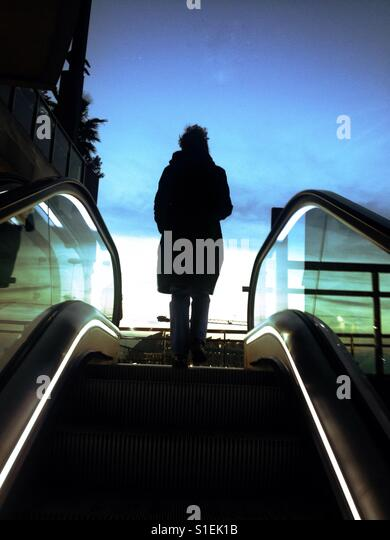 Women at the end of the stairs - Stock Image