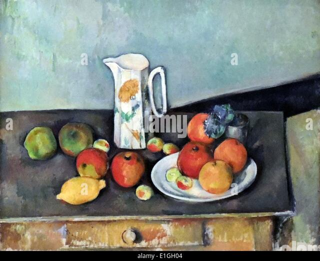 Nature morte by Paul Cezanne (1839-1906) Oil on canvas. - Stock Image
