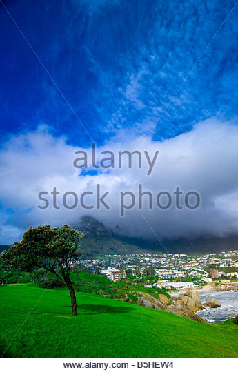 Camp s Bay near Cape Town South Africa - Stock Image