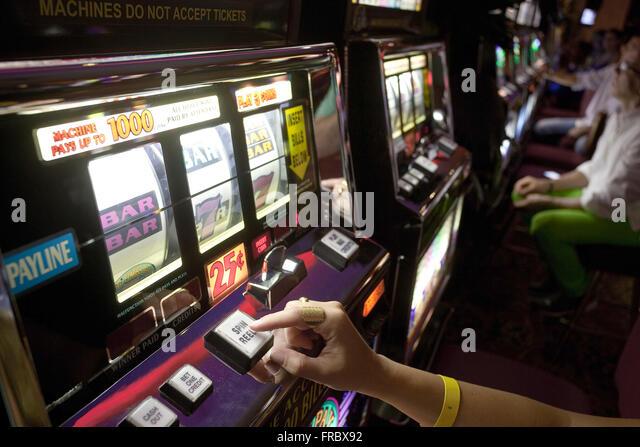 Gambling inside casino in Punta Cana - Stock Image