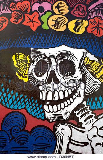 Catrina stock photos catrina stock images alamy for Dia de los muertos mural