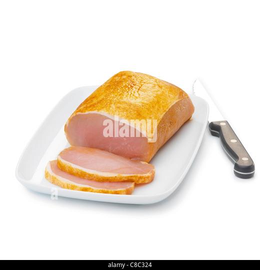 cold roast smoked pork - Stock Image