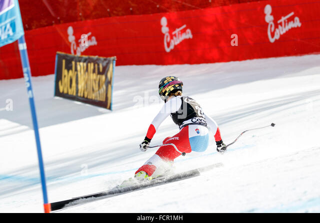 GUT Lara in Audi FIS Alpine Ski World Cup Women's Super G - Stock Image