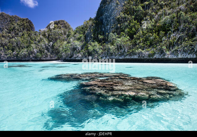 Lagoon in Raja Ampat, West Papua, Indonesia - Stock Image
