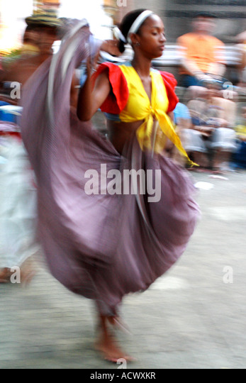 traditional dancer, Cartagena de Indias, Bolivar, Colombia, South America, caribbean - Stock Image