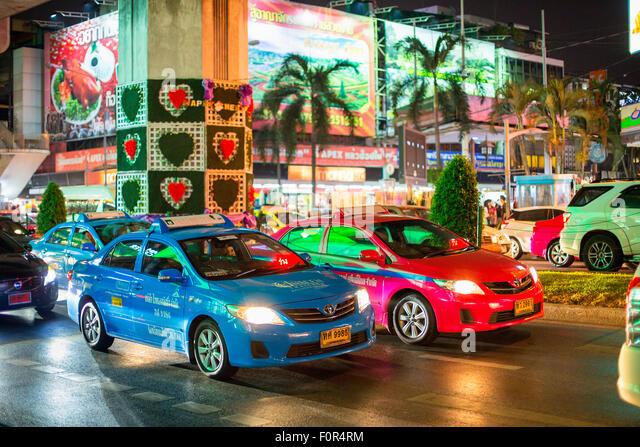 Thailand, Bangkok, traffic on the street - Stock Image