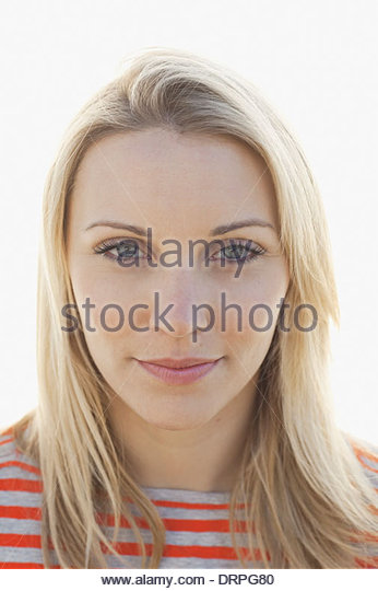 Close-up portrait of confident woman - Stock Image