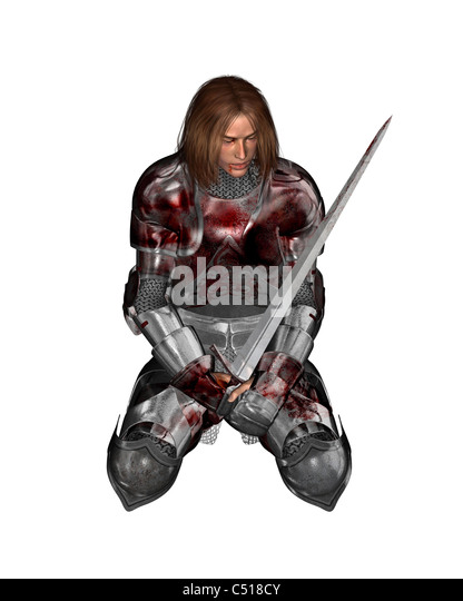 Wounded Knight - 1 - Stock Image