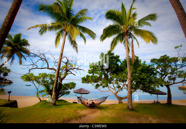 Warwick Fiji Resort and Spa, Coral Coast, Viti Levu, Fiji - Stock Image