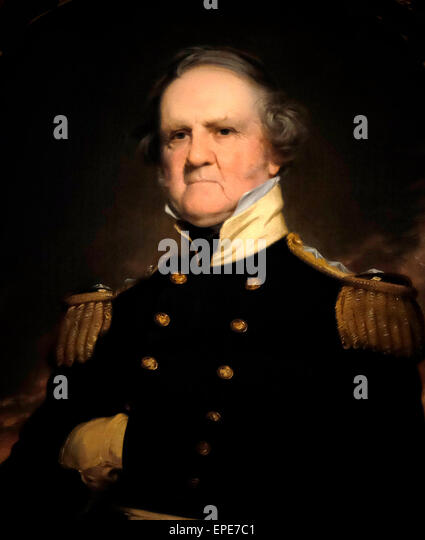 General Winfield Scott, American General - Stock Image