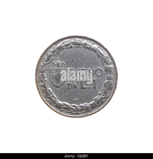 Old Italian coin - Stock Image