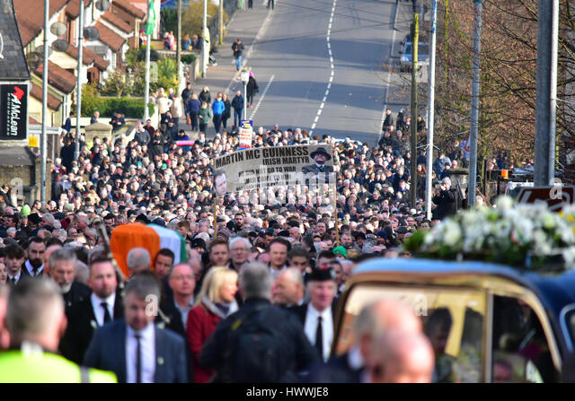 Derry, Northern Ireland. 23rd March, 2017. The Funeral of Sinn Féins Martin McGuinness in Derry: Mark Winter/Alamy - Stock Image