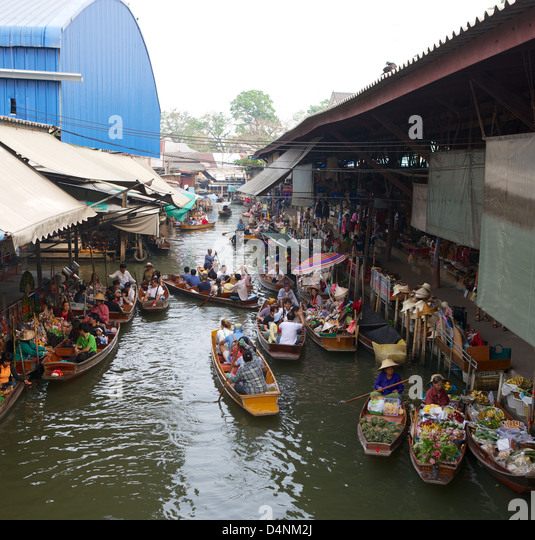 Bangkok Damnoen Saduak Thailand Floating Stock Photos ...