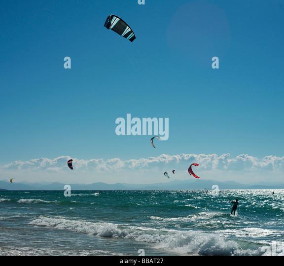 Kite surfers - Stock Image