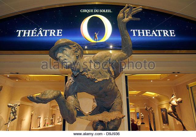 Nevada Las Vegas The Strip South Las Vegas Boulevard Bellagio hotel casino Cirque du Soleil Fine Art Galleries O - Stock Image
