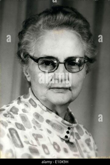 Apr. 02, 1973 - For the first time in history, a woman, Mrs. Lucienne Havart, will preside over France's savings - Stock Image
